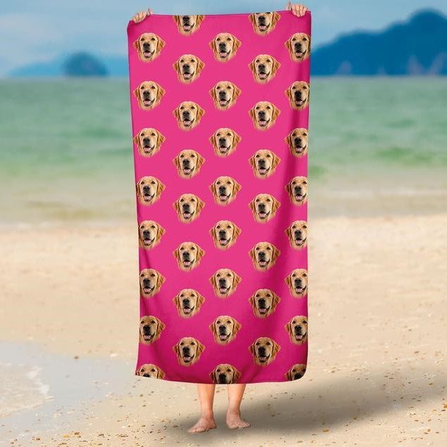Your Pet On A Beach Towel