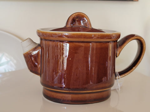 Hall China Single Serve Teapot - Stackup Brown