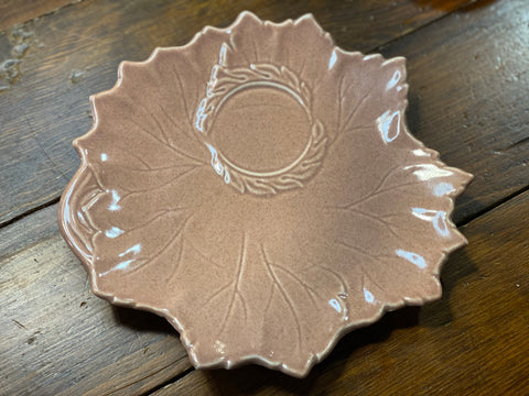 "Steubenville Pottery - Woodfield Bread Plate (Cup Ring) 9"" Coral"