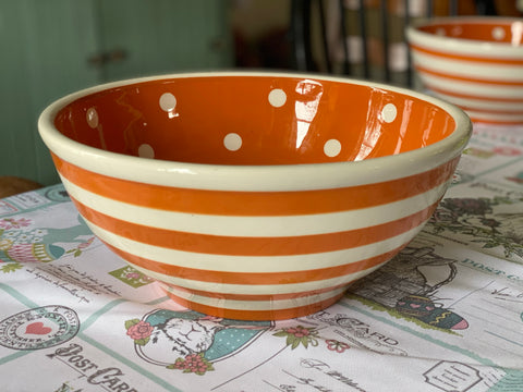 Ceramic Bowl - Large Orange