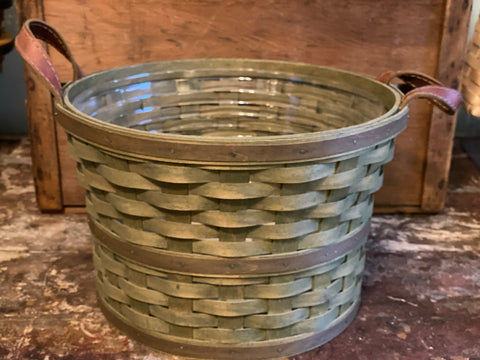 Longaberger Medium Bushel Basket - Green