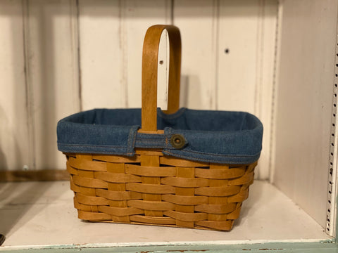 Longaberger Spring Basket - Denim Liner