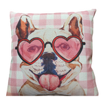French Bulldog Valentine Pillow