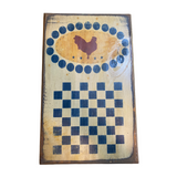 Wooden Chicken Checkboard