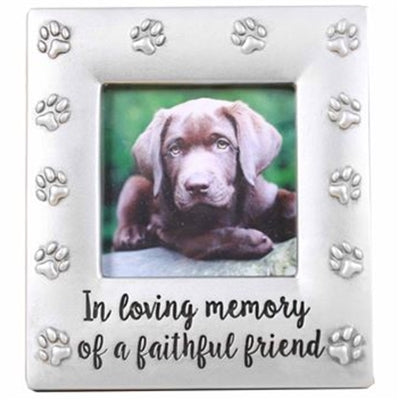In Loving Memory of a Faithful Friend Picture Frame Pewter Look ...