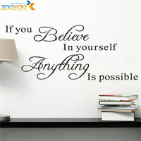If you believe in yourself anything is possible - Inspirational Quotes