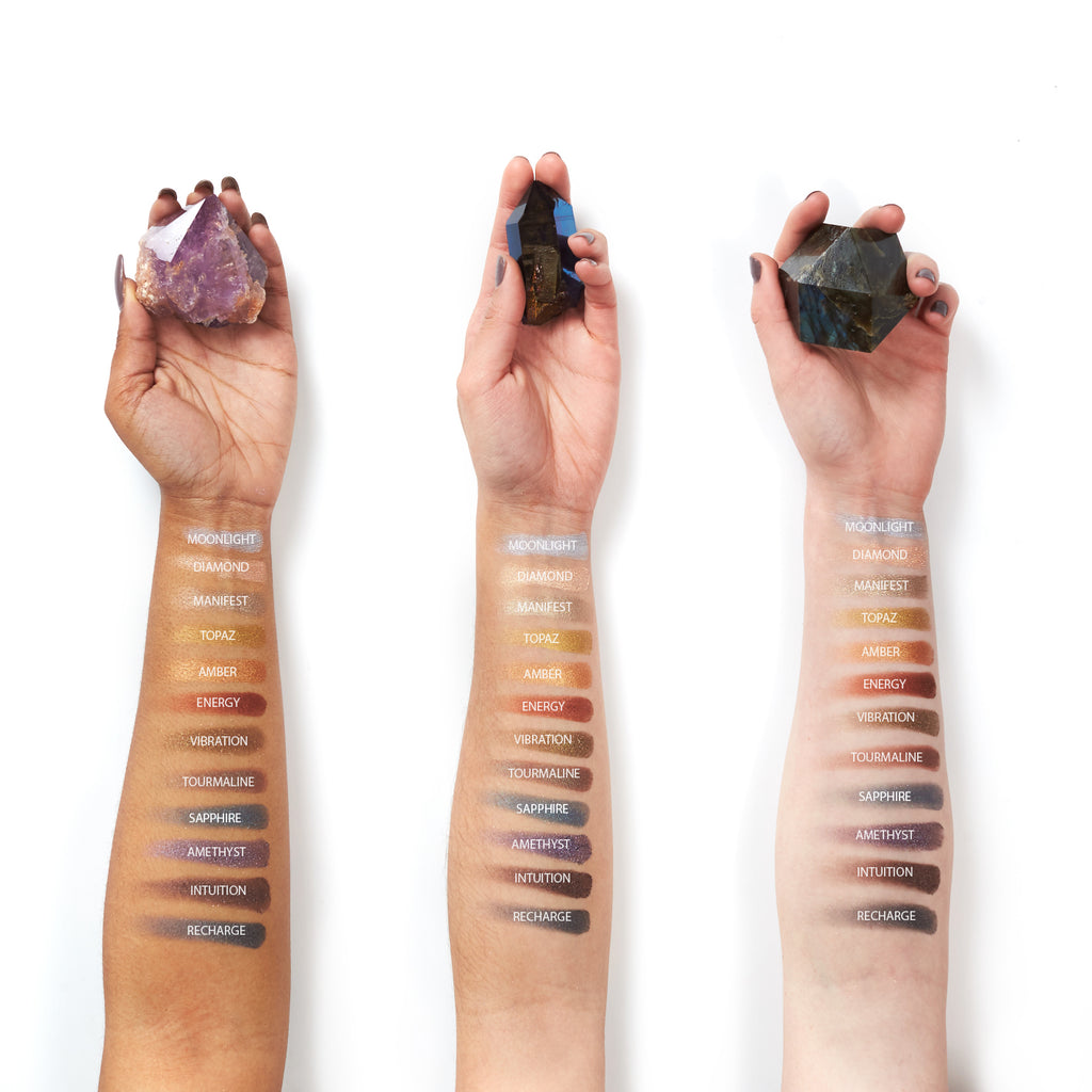 Aether-Beauty-crystal-grid-gemstone-palette-swatches-on-arms