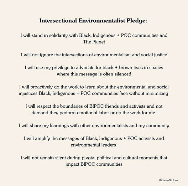 intersectional-environmentalist-pledge