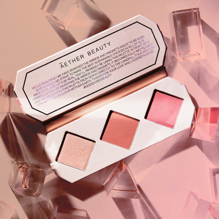 Crystal Charged Cheek Palette | Rose Quartz