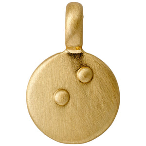 Charm : Letter pendant : Gold Plated : I