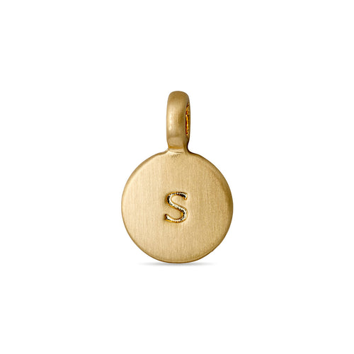 Charm : Letter pendant : Gold Plated : S