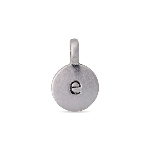 Charm : Charms : Silver Plated : E