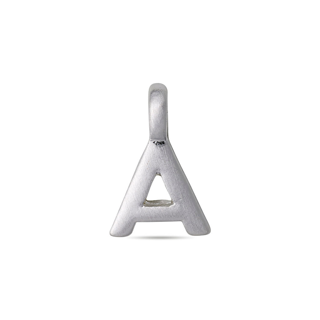 Charm : Letter pendants : Silver Plated : A