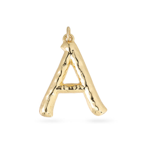 Charm : Big Letters : Gold Plated, A