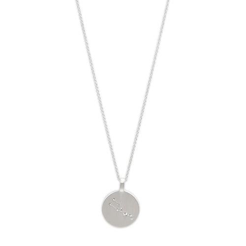 Necklace : TAURUS Horoscope : Silver Plated : White