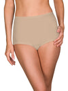 silky nude panties with cotton panel