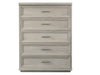 cascade five drawer dresser in light grey