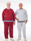 Men's fleece jogging suit, fleece outfit, elastic waist pants, solid color