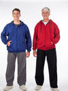Men's jogging suit, zipper hoody, fleece sweatpants