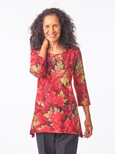Women's 3/4 Sleeve Tunic, Sharkbite Blouse