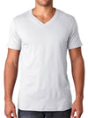 Men's v-neck undershirts, white