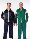 men's track outfit, warmup, zipper jacket, track pants, warmup pants