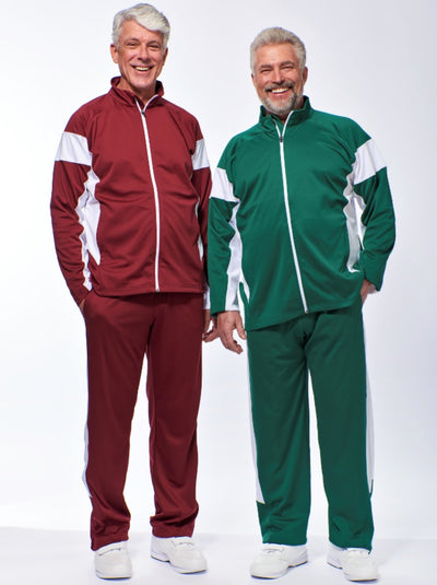 Men's Tracksuits, Zipper Jacket and Elastic Waist Pants