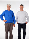 men's fleece sweatshirt, solid color