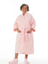 Microfleece women's bathrobe