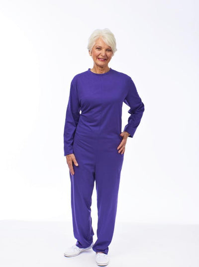 Women's soft knit jumpsuit, sleeper jumpsuit