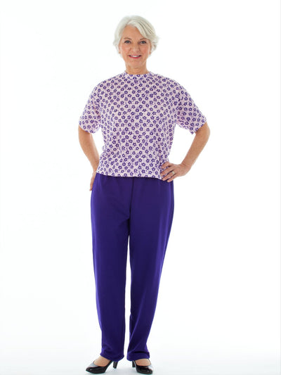 Women's short sleeve adaptive jumpsuits