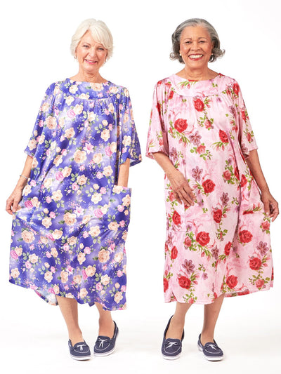 Adaptive Muu Muu, Ladies back snap muu muu, back snap gowns
