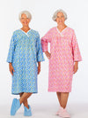 Women's flannel nightgown, over the head