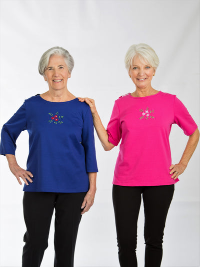 Back-Wrap Adaptive women's top