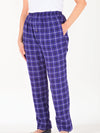 Women's Elastic Waist Flannel Pajama Pants with Pockets