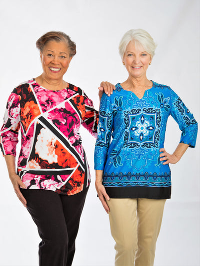 3/4 Sleeve Women's Printed Tops