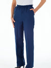 Women's elastic waist gabardine dress slack pants with pockets