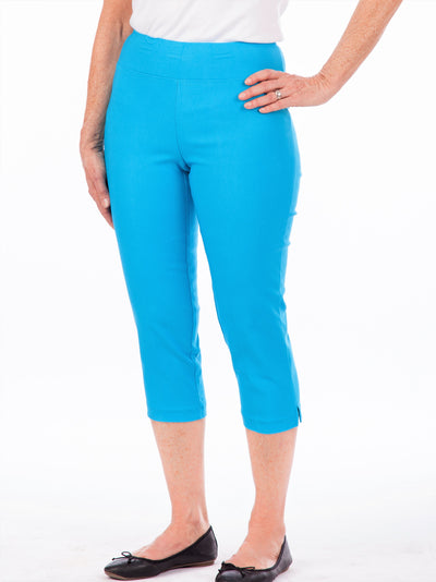 Women's elastic wast stretchy capri pants