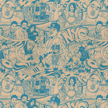 East Coast rapping wrapping paper / 19 inches x 29 inches