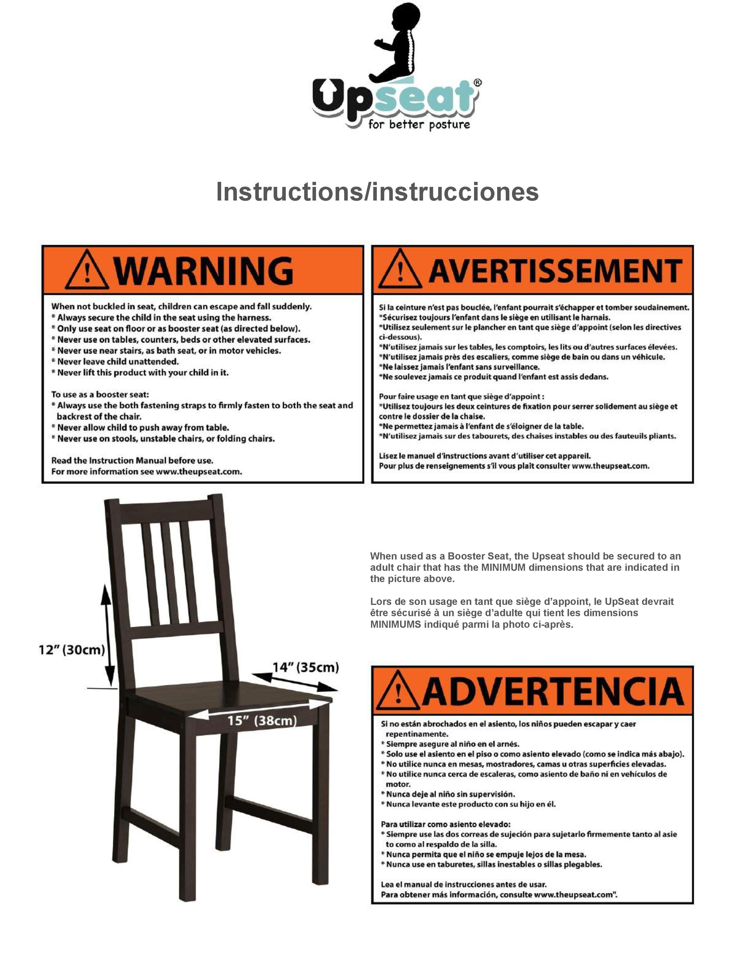 Upseat Baby Booster Seat Instruction Manual