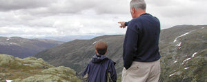 dad with son on mountain