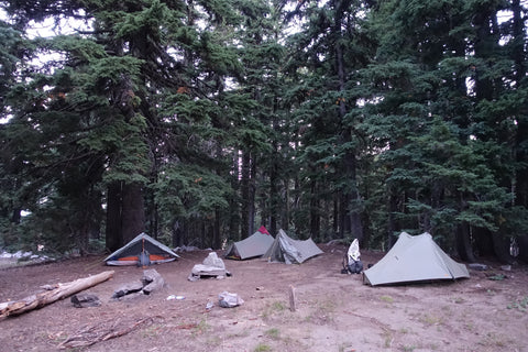 tents at camp site