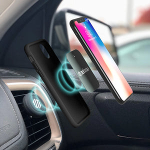 iPhone 8 connecting to metal plates and car mount