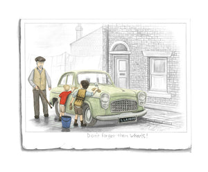Don't Forget Them Wheels - Sketch by Leigh Lambert