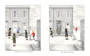 I Think Were in Trouble/He Was Batting! Diptych by Leigh Lambert