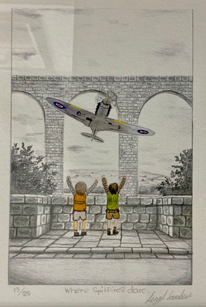 Where Spitfires Dare - Sketch by Leigh Lambert