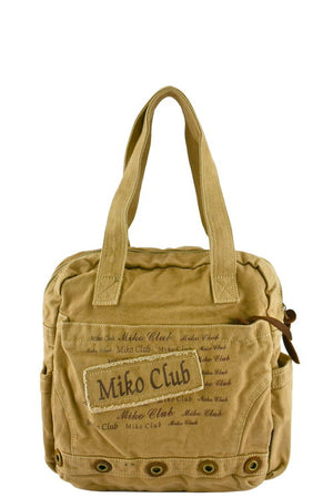 Designer Canvas Letter Printed Tote - 2 colors