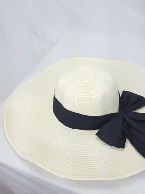 Ivory Straw Floppy Hat