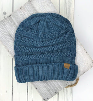 Slouchy Long Solid Knit Beanie - 3 colors