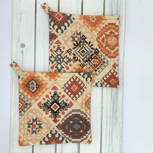 Southwest Design Potholders - Set of 2